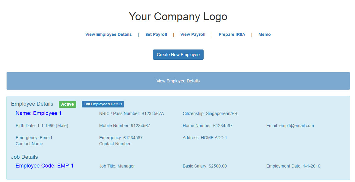 View Employee Details